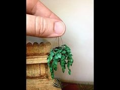 Dollhouse Miniature Potted Plant Tutorial