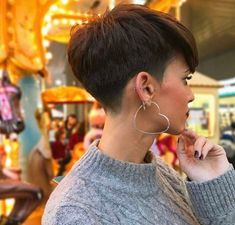 Side view pixie cut