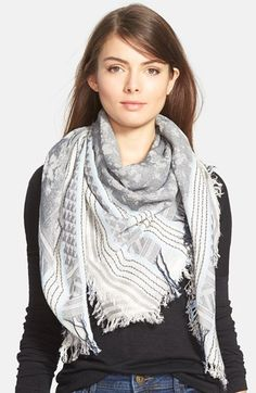 Vince+Camuto+Square+Jacquard+Scarf+available+at+#Nordstrom