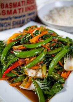 Vegan Vegetable Stir Fry #Vegan #Vegetarian #StirFry