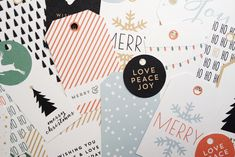 These printable holiday gift tags and wrapping paper are some of the coolest we've seen, and they're also free. Thank you, artists!