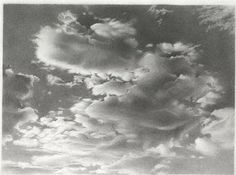 DRAWING AT DUKE: Vija Celmins clouds 1968
