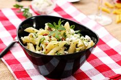 Mostaccioli+Pasta+with+Blue+Cheese+and+Bacon