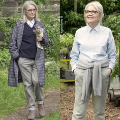 Hampstead! /// Lovely and smart yet always inclined to be elderly, from her earliest Woody Allen fame to now, a semblance of some English novelist cum intellectual, she can make dowdy sexy. AC