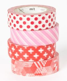 Lady in Red Washi Tape Set