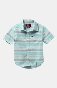 Quiksilver Booked Tickets Short Sleeve Slim Fit Sport Shirt (Little Boys) available at #Nordstrom