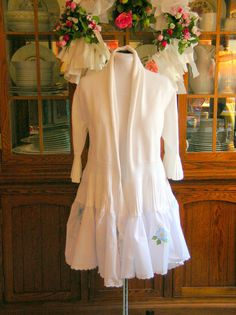 One of a Kind Romantic White Sweater with by JacketsbyJahne, $98.00