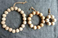 wood bead trivets DIY