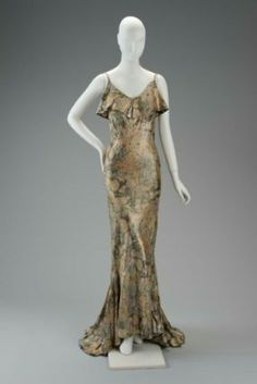 Designed by Main Rousseau Bocher, known as Mainbocher, Gown, 1930s, Museum of Fine Arts, Boston.