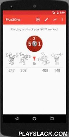 """Wendler 531  Android App - playslack.com ,  Deze app genereert het 5/3/1 (531) powerlifting & muscle building programma op basis van uw huidige gewichten.Een gedetailleerd overzicht van cycli waaronder sets, herhalingen en gewichten worden berekend""""Let's Workout"""" knop brengt u iedere keer naar uw aanstaande workout.De app bewaart voltooide workouts. (alleen 4 workouts in deze gratis versie)Kenmerken:★ Berekent one rep max (IRPM) op basis van uw huidige gewichten★ Configureerbare training…"""
