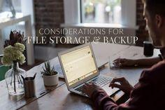 File Storage and Backup Considerations - Newborn Posing Newborn Posing, Take Better Photos, Photo Tips, Filing, Consideration, Cool Photos, Storage, Purse Storage, Larger