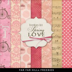 Far Far Hill - Free database of digital illustrations and papers: New Freebies Kit of Backgrounds - Spring Love