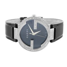 dcaceeeb69d Diamond Gucci Watch YA133301 42 MM Mens Black XL 2.95 CT