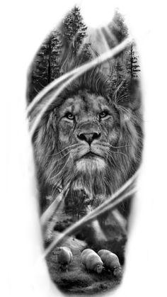 Judah lion leão de Judá - #WolfFamily #tattoosIdeas Lion Head Tattoos, Forarm Tattoos, Leo Tattoos, Forearm Tattoo Men, Lion Sleeve, Lion Tattoo Sleeves, Sleeve Tattoos, Lion Tattoo Design, Tattoo Designs