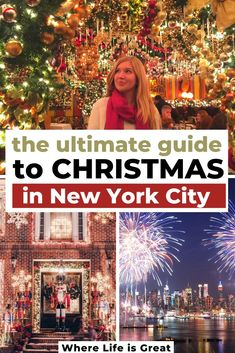 The Ultimate Guide to Christmas in New York City: the best things to do in NYC during the holidays. From the Christmas markets to the tree lighting and holiday shopping, find out all the best things to do in NY during Christmas and Winter.
