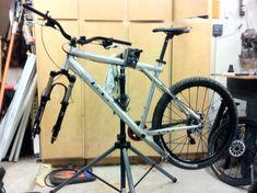 Bike Repair Stand, Bicycle Stand, Black Pipe, Building A House, Home, Cycling, Bike Stands, Biking, Crutch