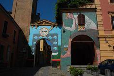 意大利,一个生活在画壁中的美丽小镇 Dozza by @shangxue