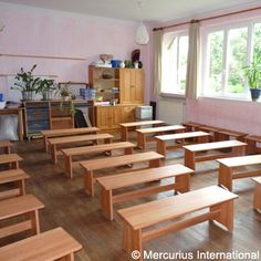 Mercurius USA - Moving Classroom Bench - seat height 31 cm - G2 purple