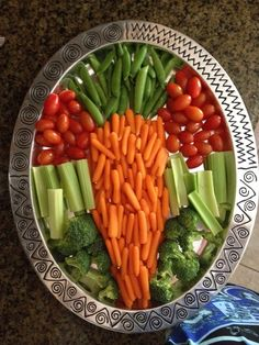 Easter vegetable tray