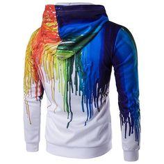 New Men/'s Neon Rainbow Can/'t Hide My Pride Camo Hoodie Sweater Gay Lesbian LGBT
