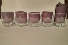 Set of 5 Crown Royal clear Whiskey Glasses in Crown Royal   eBay