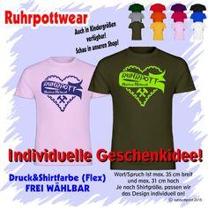 T-Shirt  Ruhrpott meine Heimat  individuell gestaltbar mit Flexdruck Shirt