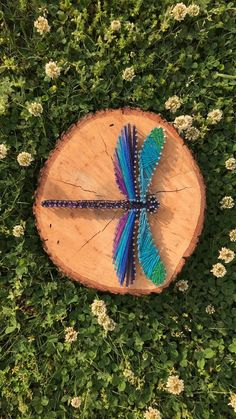 Dragonfly string art