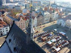 #Pilsen en République #Tchèque #vue du haut de la cathédrale