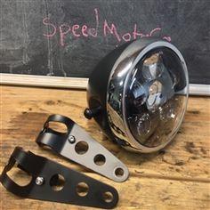 "6"" six projector LED headlight side mount metal housing"