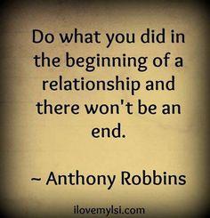 Relationship beginning to never ending