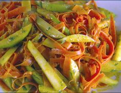 Shaved Carrot and Pear Salad with Curry Vinaigrette from FoodNetwork.com