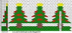 Perline la Tisserande, Nouveau blog: Patron de tissage à carte du Lundi 5 : Noël arrive...