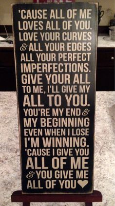 John Legend Song All of Me  Distressed Wood Sign by aubreyheath, $32.00