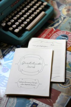 homemade gratitude journals: gifts