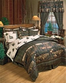 Moose Mountain Bedding - Rustic Cabin and Lodge themed Bedding featuring meandering moose resting by the stream against a backdrop of mountains and trees. King Comforter Sets, Bedding Sets, Bedding Decor, Camo Bedding, Bedroom Decor, Plaid Bedroom, Moose Decor, Rustic Bedding, Western Bedding