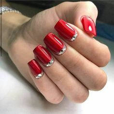242 best red nails images  red nails nails manicure