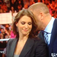 Stephanie McMahon & Triple H WWE Romantic steph. ... looks so cute. ....