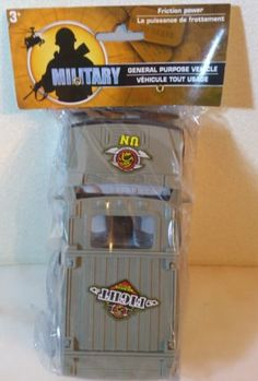 Military Jeep United Nations. 6  New in sealed package 3+ Military Jeep United Nations. 6  Ages 3+ New purchased for resale by Keywebco Video inspected during shipping Shipped fast and free from the USA The item for sale is pictured and described on this page. The stock photo may include additional items for display purpose only - which will not be included. Packages may show wear or be opened if the battery is replaced or during the inspection.   https://nemb.ly/p/SJdeyD=8W Happily…