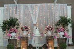 Mesa decoração pink