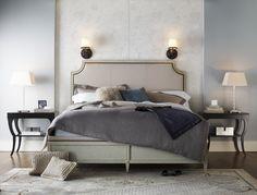 Milling Road Delphine King Bed ; Baker Furniture