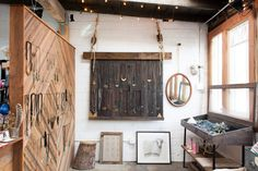 So many choices — a glimpse at the artistic displays in Marisa's studio and shop!  #refinery29 http://www.refinery29.com/45623#slide-7