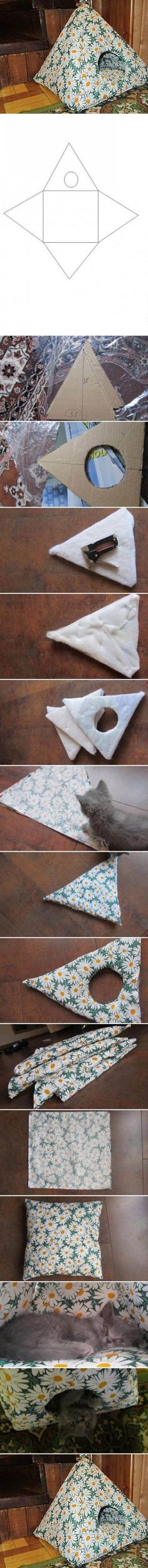 DIY tent. For large animals or can hang in cage for small animals.: