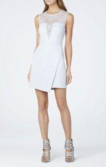Kinsley Crossed-Back Round-Neck Asymmetrical Dress