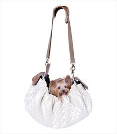 PeTOTe Gigi Pet Sling - Ivory Quilted