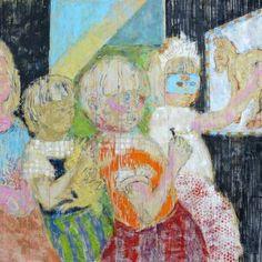 Original People Painting by Szabina Gore Original Art, Original Paintings, Abstract Expressionism Art, Donkey, Gouache, Buy Art, Saatchi Art, Identity, Canvas Art