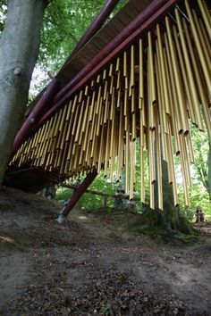 Chimecco - a giant set of windchimes in Denmark
