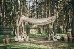 Mountain Wedding Ceremony Arch by Ten Productions