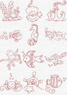 Embroidery Underwater critters, part Free Embroidery Designs, Sweet Embroidery, Designs Index PageHand Embroidery and Its Types - Embroidery Patterns Embroidery Designs, Baby Embroidery, Embroidery Patterns Free, Cross Stitch Embroidery, Machine Embroidery, Clipart Baby, Coloring Books, Coloring Pages, Baby Clip Art