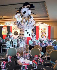 Awesome centerpiece.    Casino Theme Event by The Prop Factory, via Flickr