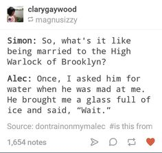 They're not married yet though. I'm doing this next time someone I'm mad at asks for water